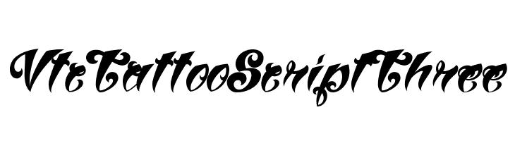 VtcTattooScriptThree  免费字体下载