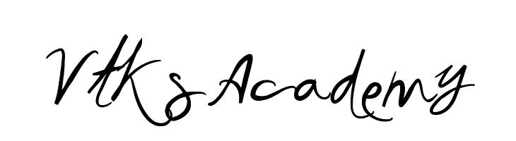 Vtks Academy  フリーフォントのダウンロード