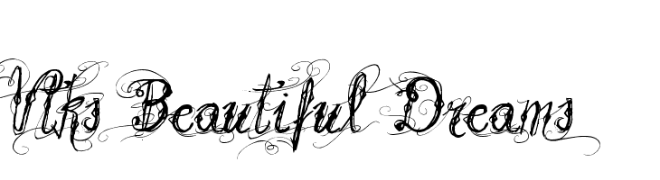 Vtks Beautiful Dreams  Free Fonts Download