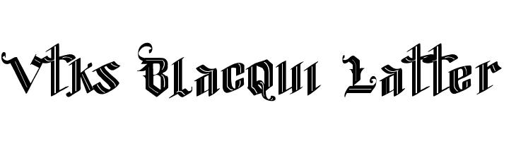 Vtks Blacqui Latter  Скачать бесплатные шрифты