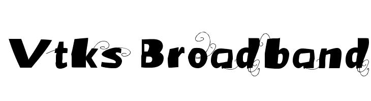 Vtks Broadband Font - free fonts download
