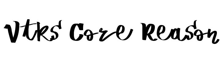 Vtks Core Reason Schriftart