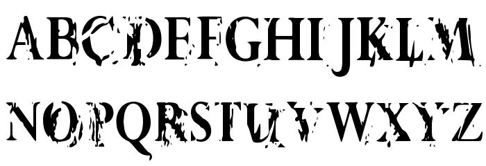 Vtks Demolition Schriftart Anderer Schreiben