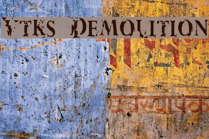 Vtks Demolition Schriftart examples