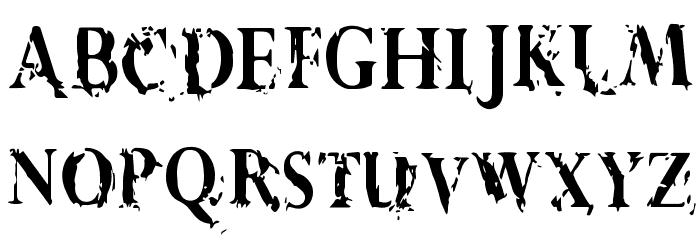 Vtks Demolition Schriftart Kleinbuchstaben