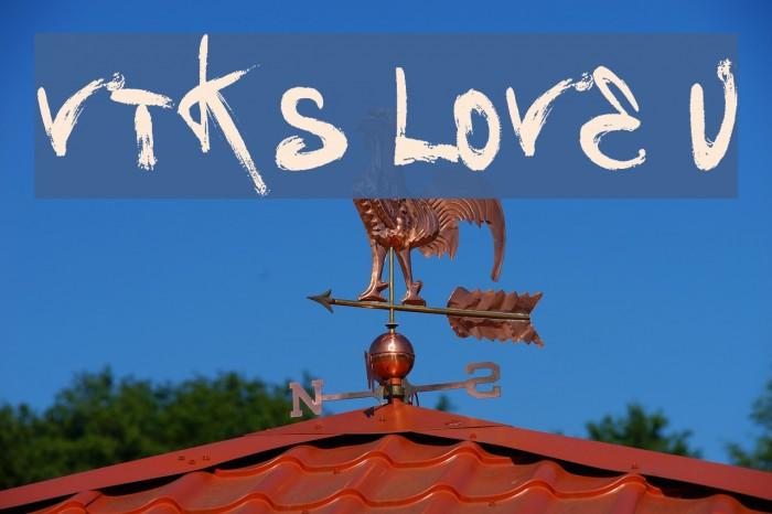 Vtks Love U Schriftart examples