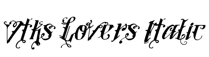 Vtks Lovers Italic  Frei Schriftart Herunterladen