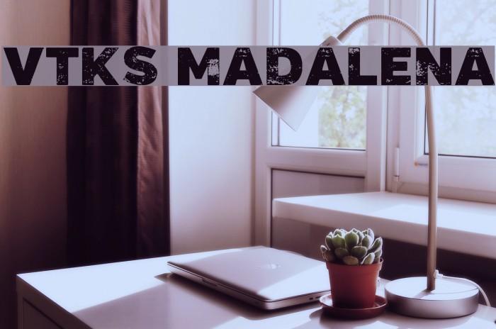 Vtks Madalena Schriftart examples