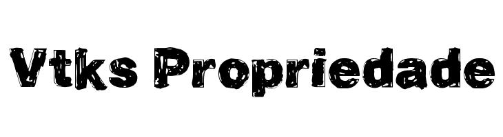 Vtks Propriedade  les polices de caractères gratuit télécharger
