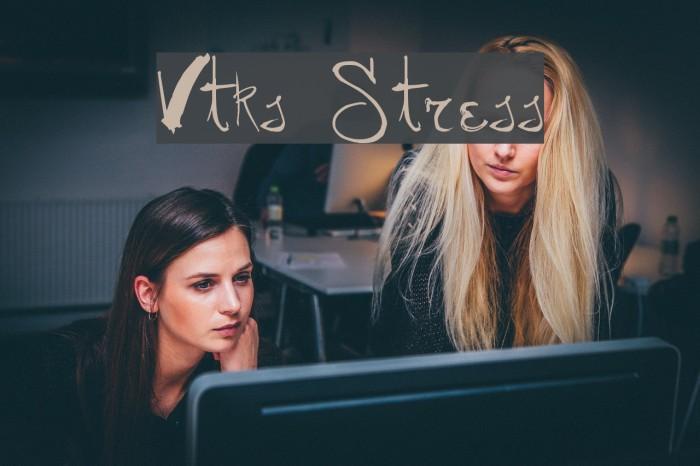 Vtks Stress Schriftart examples