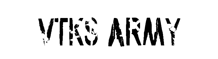 vtks army  Free Fonts Download