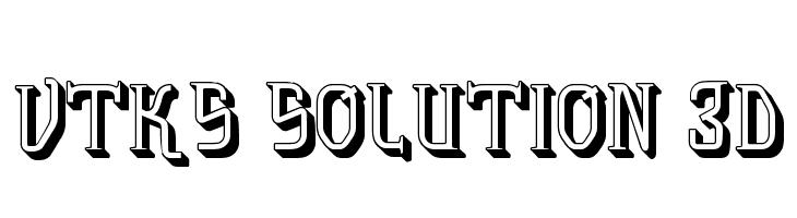 vtks solution 3d  Free Fonts Download