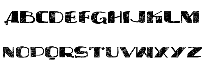 vtks syndicate Font UPPERCASE