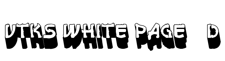 vtks white page 3d  Free Fonts Download