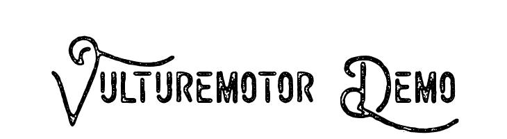 Vulturemotor Demo  フリーフォントのダウンロード