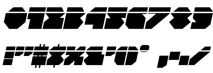 VX Rocket Laser Italic Font OTHER CHARS