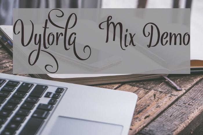 Vytorla Mix Demo Font examples