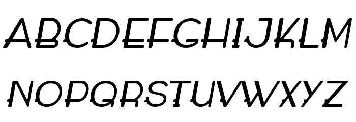 WABECO Bold Italic फ़ॉन्ट अपरकेस