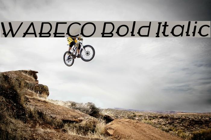 WABECO Bold Italic फ़ॉन्ट examples