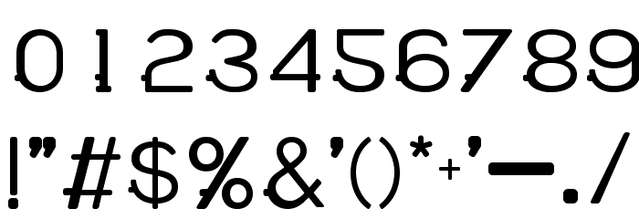 WABECO Bold Font OTHER CHARS