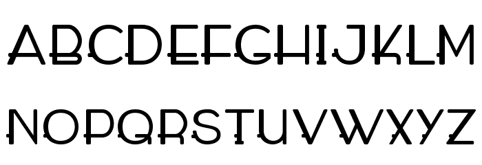 WABECO Bold Font UPPERCASE