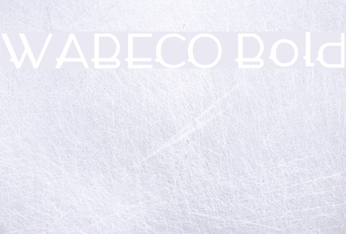WABECO Bold Font examples
