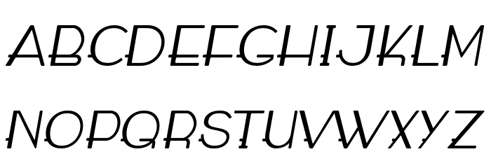 WABECO Italic फ़ॉन्ट अपरकेस