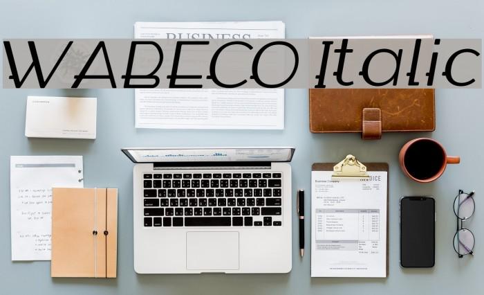 WABECO Italic फ़ॉन्ट examples