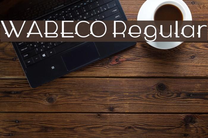 WABECO Regular फ़ॉन्ट examples
