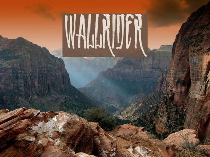 WALLRIDER Font examples