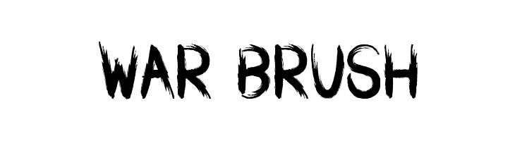 WAR BRUSH  font caratteri gratis