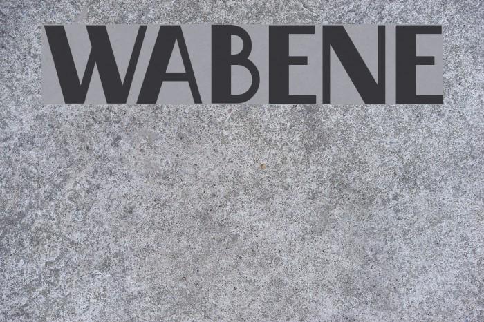 Wabene Fonte examples