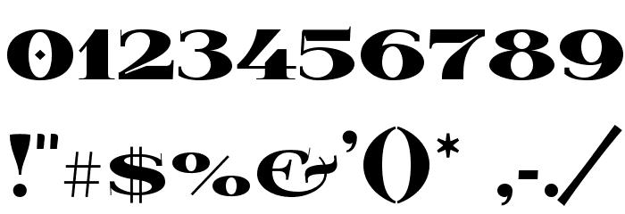 Wabroye Шрифта ДРУГИЕ символов