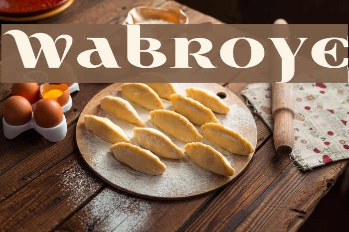 Wabroye Font examples