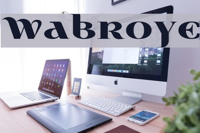Wabroye Шрифта examples