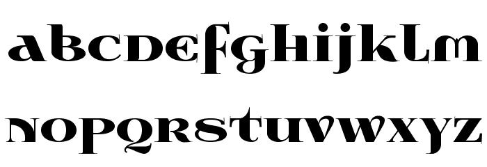 Wabroye Font LOWERCASE