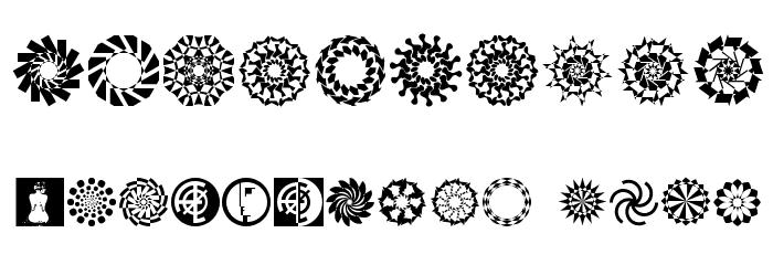 Wach Op-Art Шрифта ДРУГИЕ символов