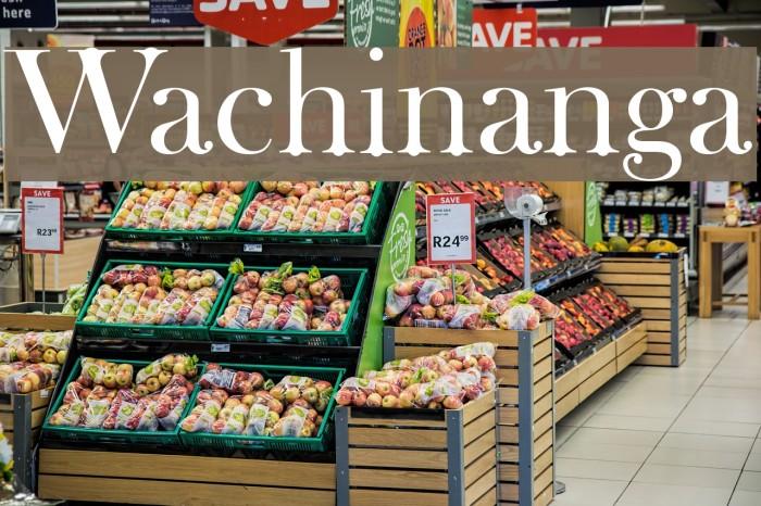 Wachinanga फ़ॉन्ट examples