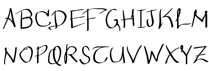 Wacomian-Regular Font UPPERCASE