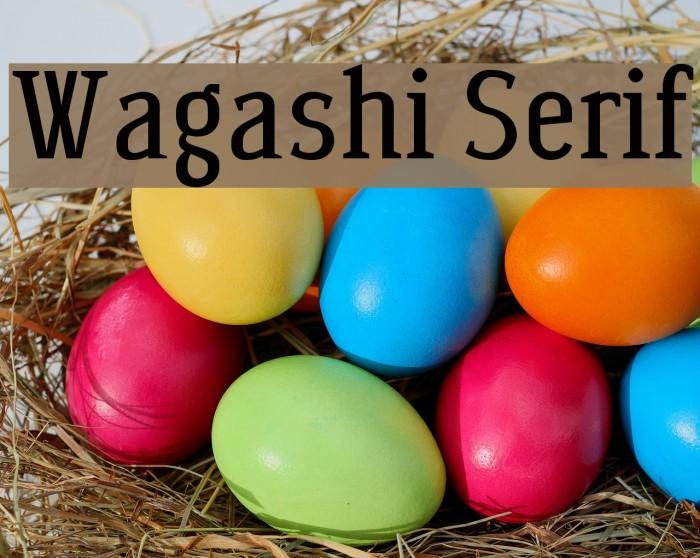 Wagashi Serif Font examples