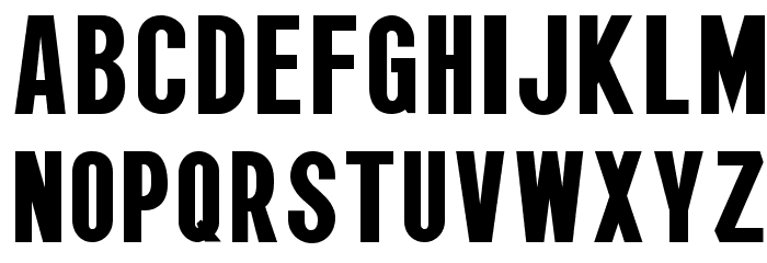 Wagner Zip-Change Condensed Font LOWERCASE