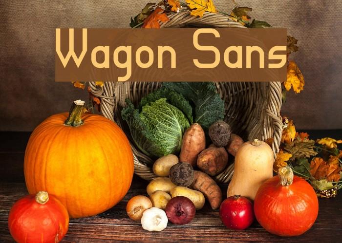Wagon Sans फ़ॉन्ट examples
