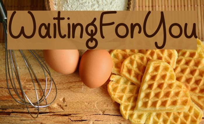 WaitingForYou Font examples