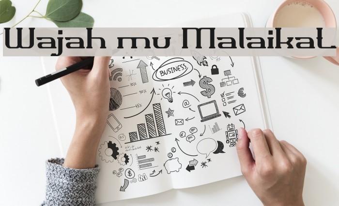 Wajah mu Malaikat Font examples