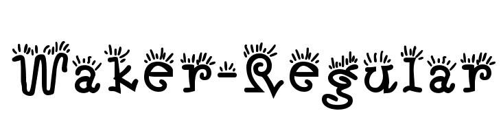 Waker-Regular  Free Fonts Download
