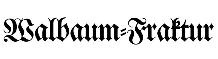 Walbaum-Fraktur  नि: शुल्क फ़ॉन्ट्स डाउनलोड