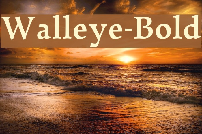 Walleye-Bold Font examples
