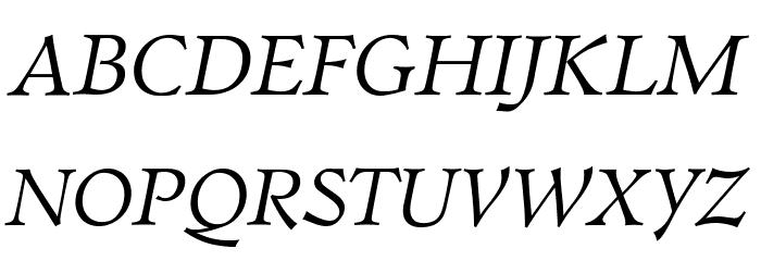 Walleye Italic Fonte MAIÚSCULAS