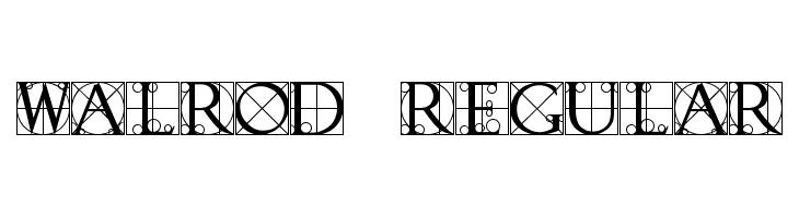 Walrod Regular  font caratteri gratis