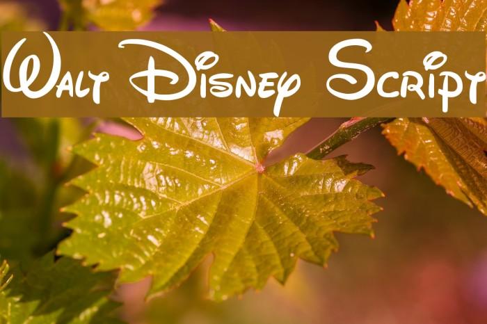 Walt Disney Script フォント examples